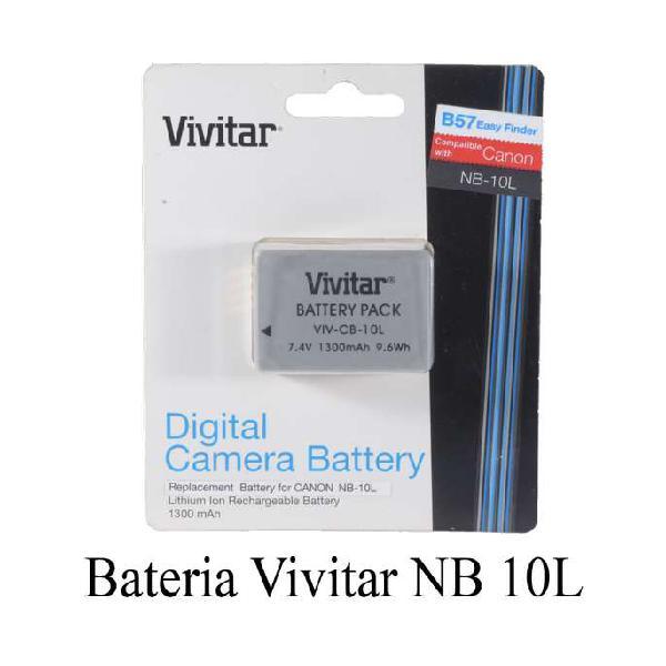 Bateria nb 10l para canon sx60 hs / sx 50 hs vivitar