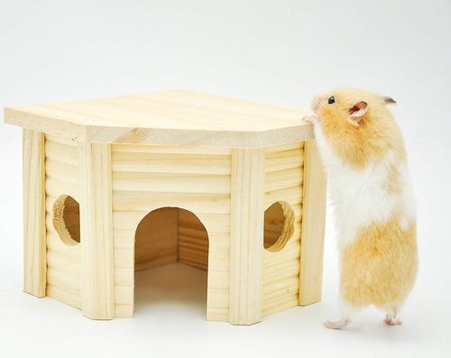 Casa de hámster de madera niteangel, hábitat de anidac...