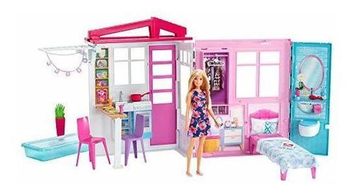Muñeca barbie, casa, muebles y accesorios [exclusivo de ama