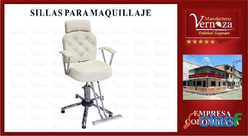 .18. silla para maquillaje en color hueso y base araña