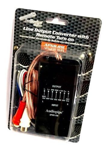 Convertidor de impedancia alta- baja 2 canales audiopipe