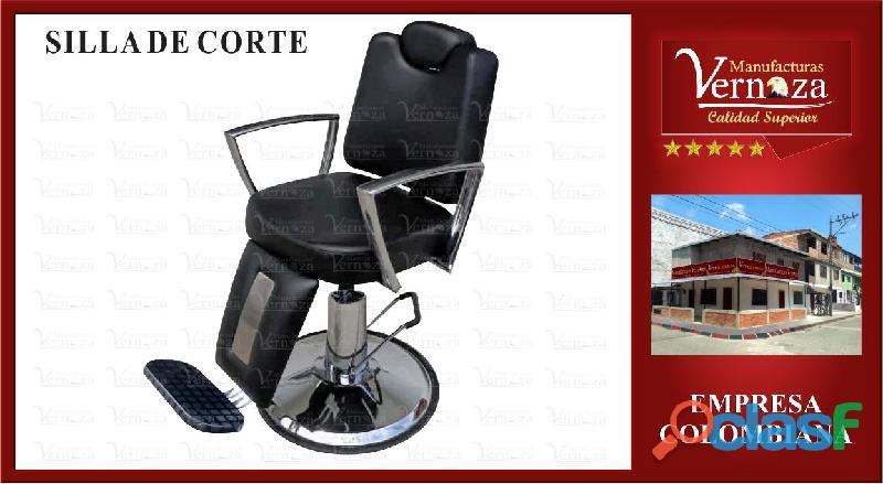 15. silla de corte negra con cabecero interno