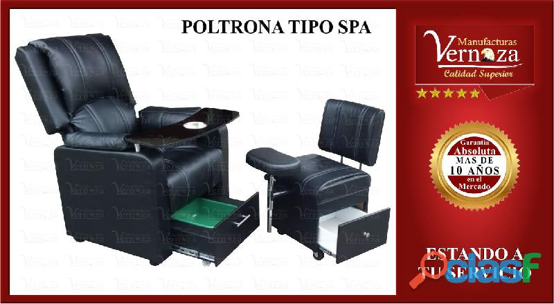 (8) poltrona spa para manicura en color negro