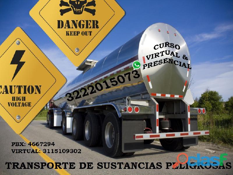 Curso en transporte de sustancias y mercancías peligrosas