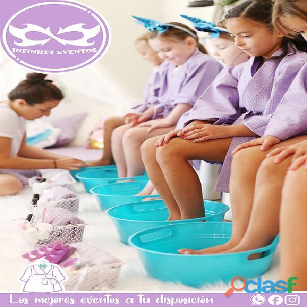 Mini spa para niñas a domicilio, animadora, juegos, actividades, cumpleaños, fiestas, bogotá