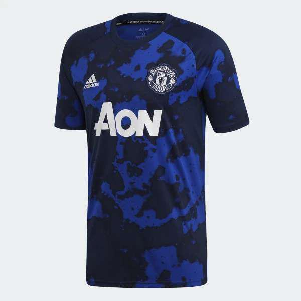 Camiseta manchester united pre-match jersey-blue original