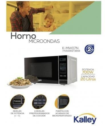 Horno microondas kalley k-mw07n gris horno microondas mk858