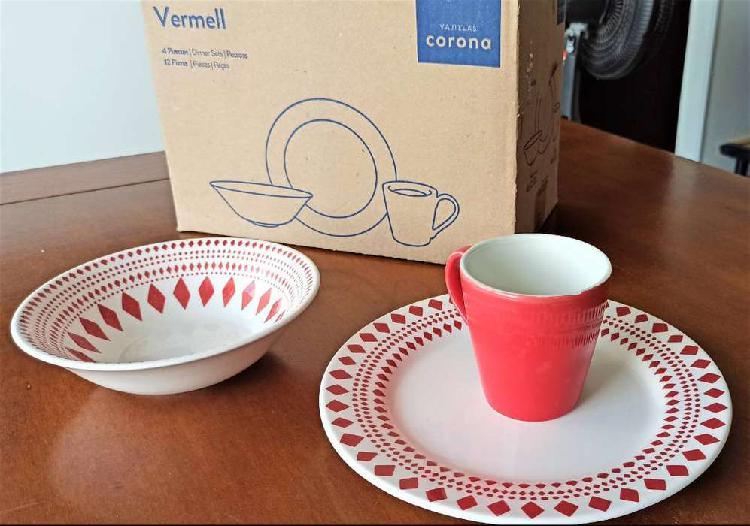Paquete completo de vajilla - juego de jarra y vasos cristar