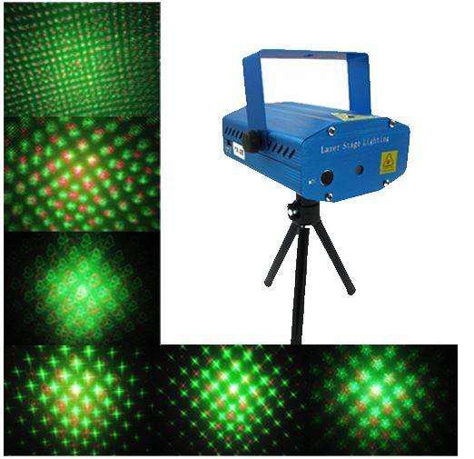 Proyector de luces láser 3d puntos remolinos show navidad
