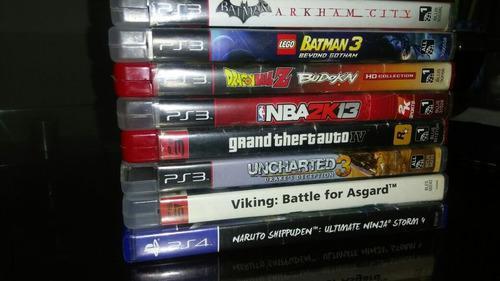 Vendo 7 juegos físico para ps3 y 1 para ps4 (vlr. unitario)