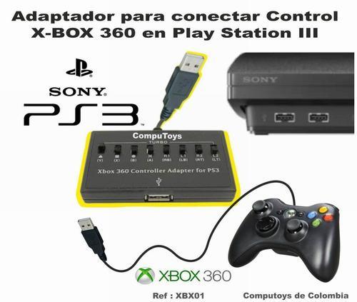 Zxbx01 use control de xbox 360 en ps3 qxbx01q compu-toys