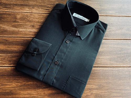 Camisas para hombre slim fit 100% algodon premium