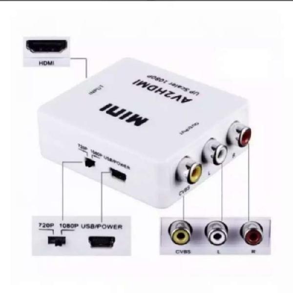 Convertidor adaptador de vídeo hdmi a rca audio/ vídeo