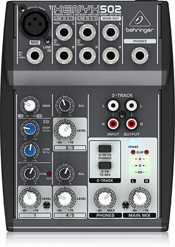 Mixer consola behringer xenyx 502 mezclador audio behringer