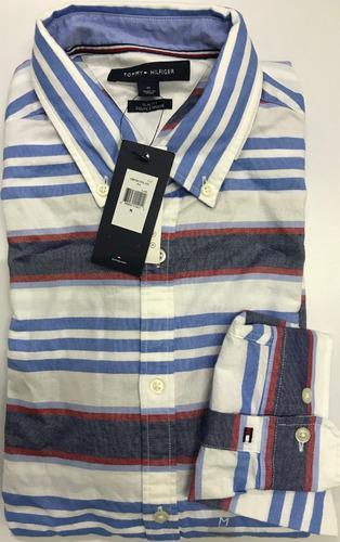 Tommy hilfiger camisa manga larga 100% original talla xxl