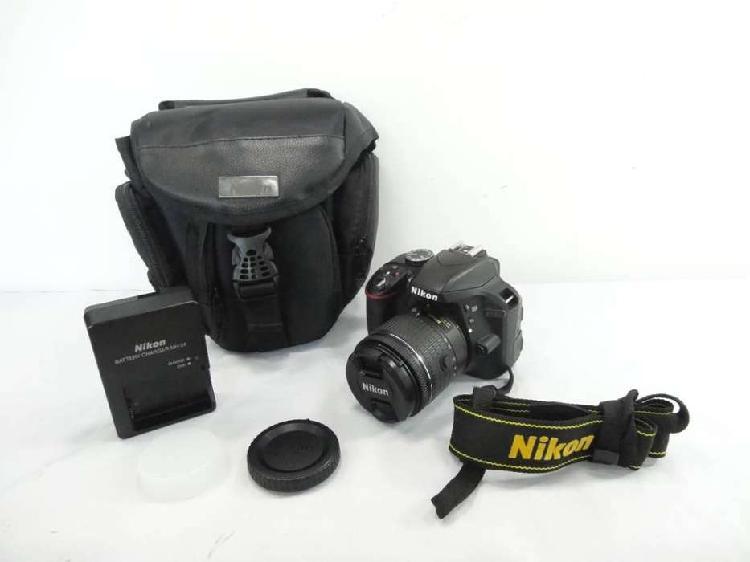 Camara profesional digital nikon d3300 con lente 18-55 con