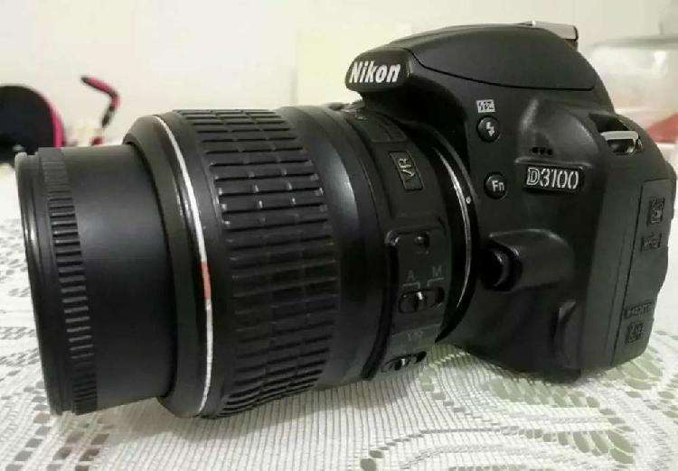 Camara nikon d3100 lente kit 18-55 vr