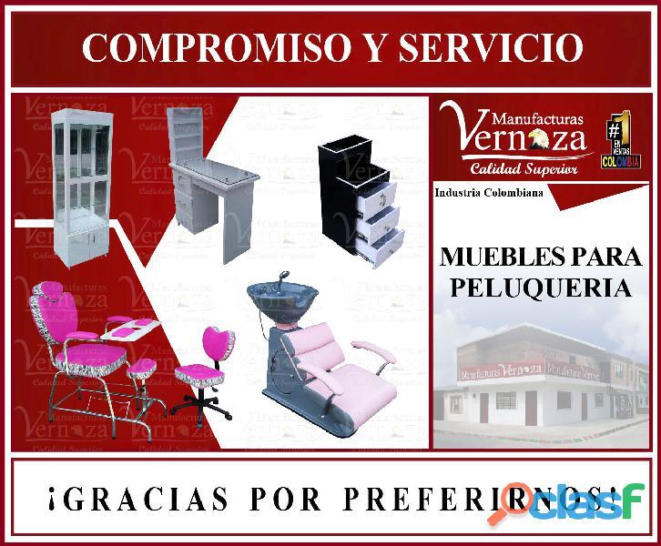 1 industria especializada en fabricar muebles de peluqueria, barberia y spa.