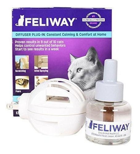 Feliway difusor electrico reduce los rasguños kit 30 dias