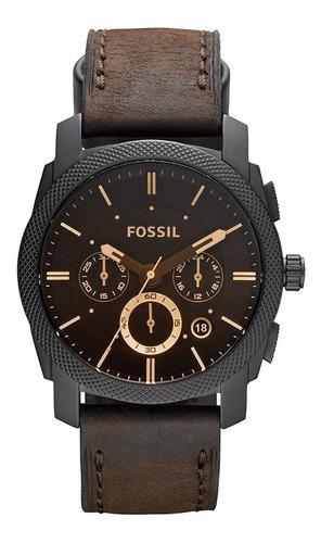 Reloj fossil machine cronógrafo cuero hombre fs4656