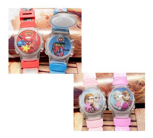 Reloj personajes animados digital quartz niña niño