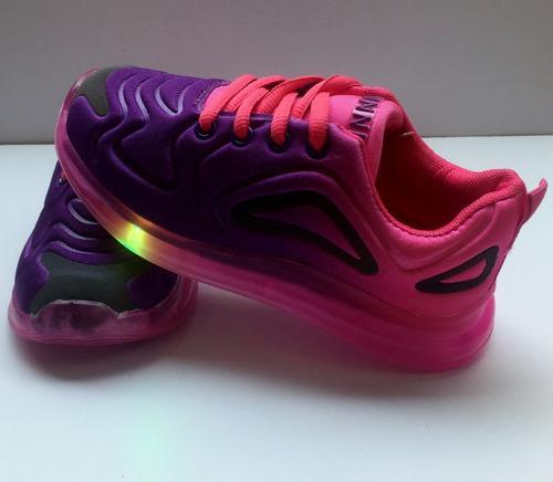 Zapatos tennis deportivos para niña con luces led