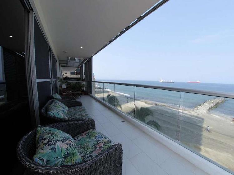 Apartamento en frente al mar bellavista santa marta 191m2