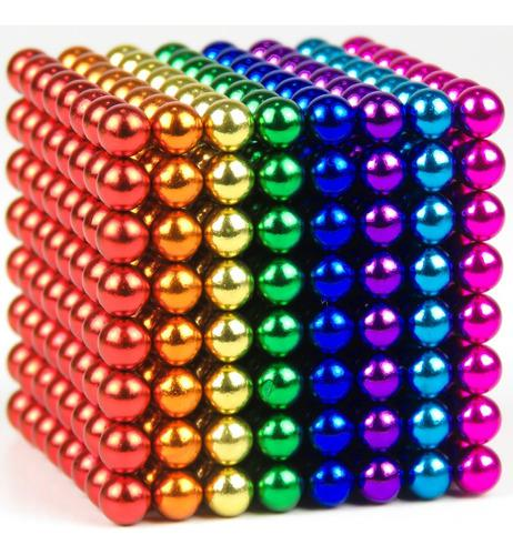 Bolas Magneticas 8 Colores Buckyballs Neocube 512 Unid 5mm