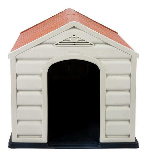Casa para perro rimax raza grande- beige