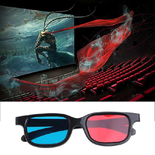 Gafas 3d Anaglifas Lente Rojo Y Azul