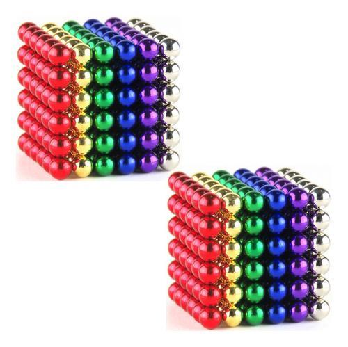 Promo! 2 Sets Bolas Magneticas X 216 Unid C/u 5mm 6 Colores