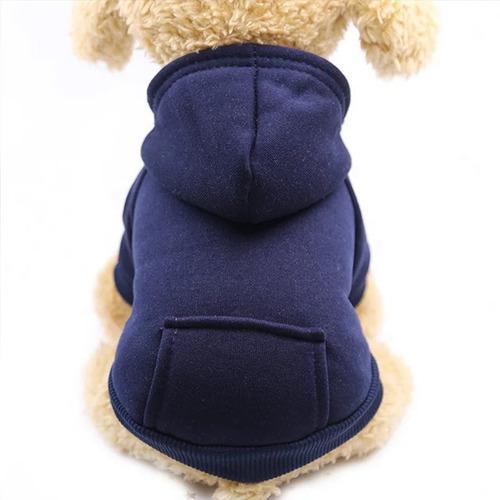 Saco con gorro sueter ropa perro pequeño - gato azul talla