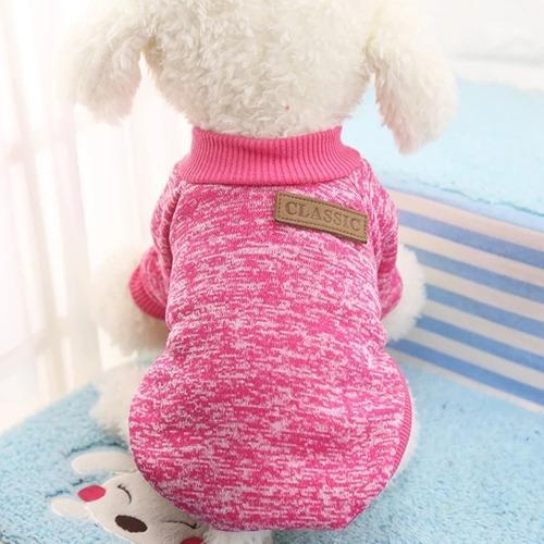 Saco sueter ropa para perro pequeño gato. color fucsia. t-s