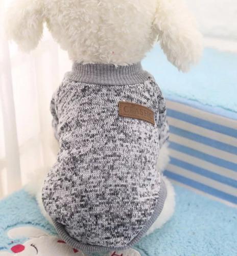 Saco sueter ropa para perro pequeño - gato. color gris.