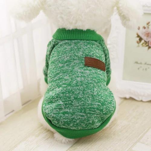 Saco sueter ropa para perro pequeño - gato. color verde.
