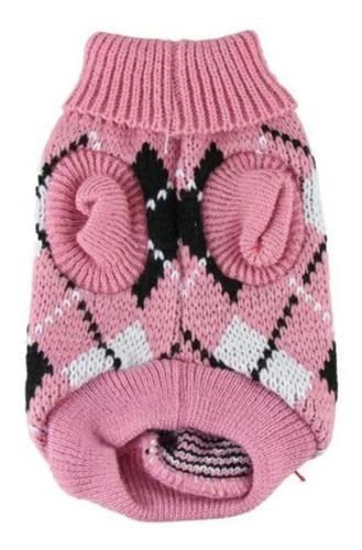 Saco sueter ropa perro pequeño-gato. tejido rosado. talla s