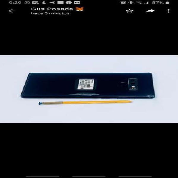 Samsung galaxy note 9 azul no cambios ¡