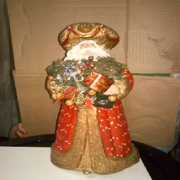 antiguo papa noel en ceramica