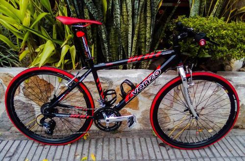 Bicicleta híbrida peso 8.5kg. armada desde cero venzo ahead