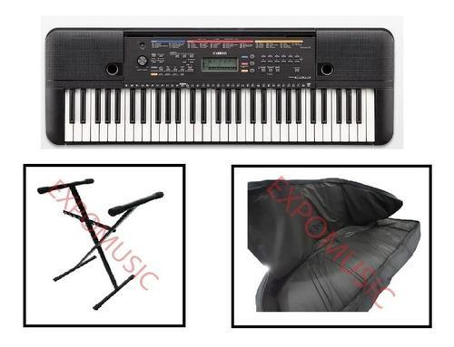Combo organeta yamaha psr-e 263 ad+ base+ forro - expomusic