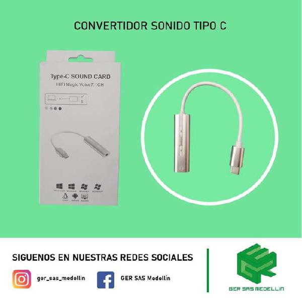 Convertidor audio tipo c