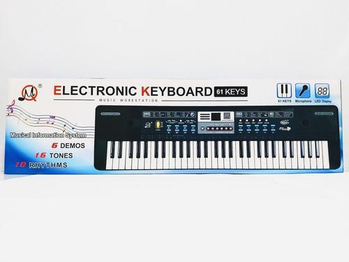 Organeta piano teclado electrónico 61 tecla estacion