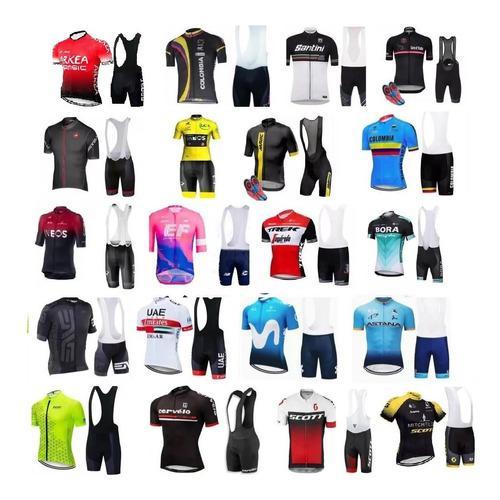 Uniformes ciclismo world tour 2019 9d bicicletas ruta mtb
