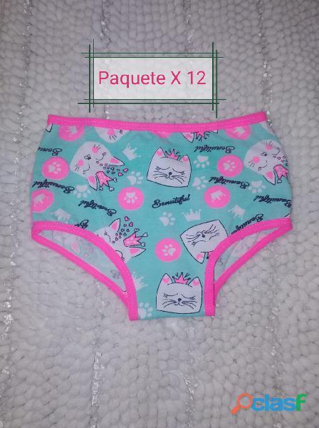Panty de niña en algodón x 12 unidades