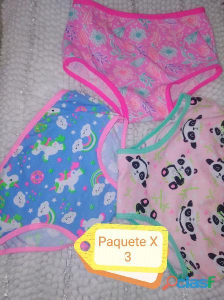 Panty de niña en algodón x 3 unidades