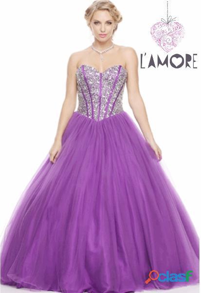 Alquiler vestidos de quinceañera de princesa + tacones + corona
