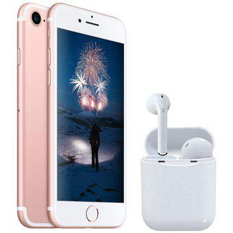 Iphone 7 oro rosa 32gb + audífonos inalámbricos estilo