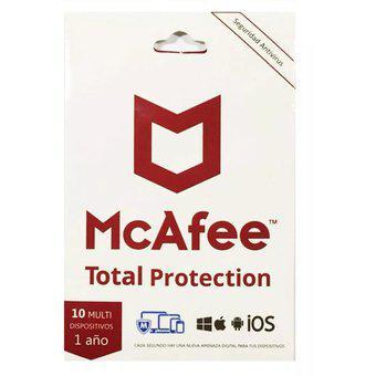 Antivirus mcafee total protección para 10 usuarios
