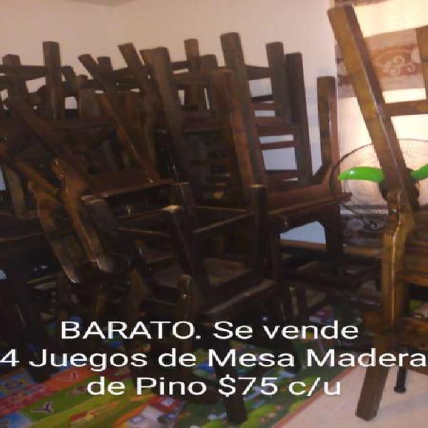 Baratos juegos mesa madera pino