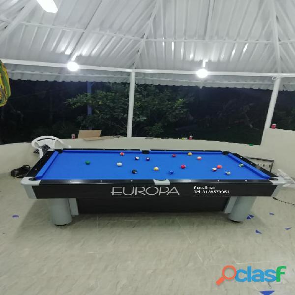 Eurojimar: fabrica, venta y distribución de mesas de pool y billar.
